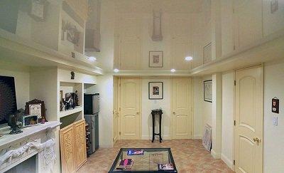 ЭРА Лаковый (глянцевый) натяжной потолок белый