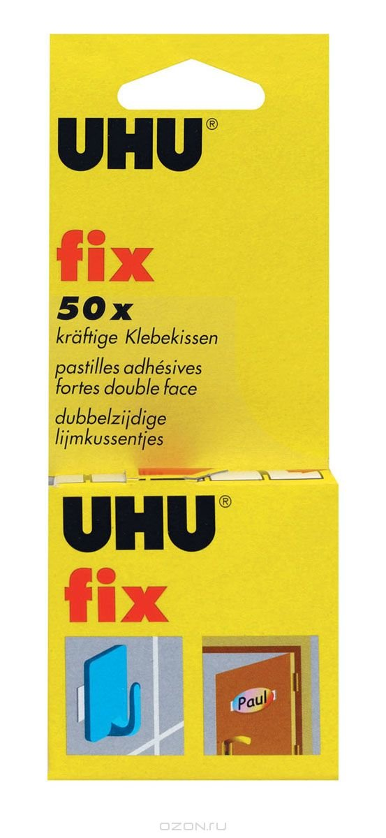 Клей UHU Пластин Фикс в наборе, UHU