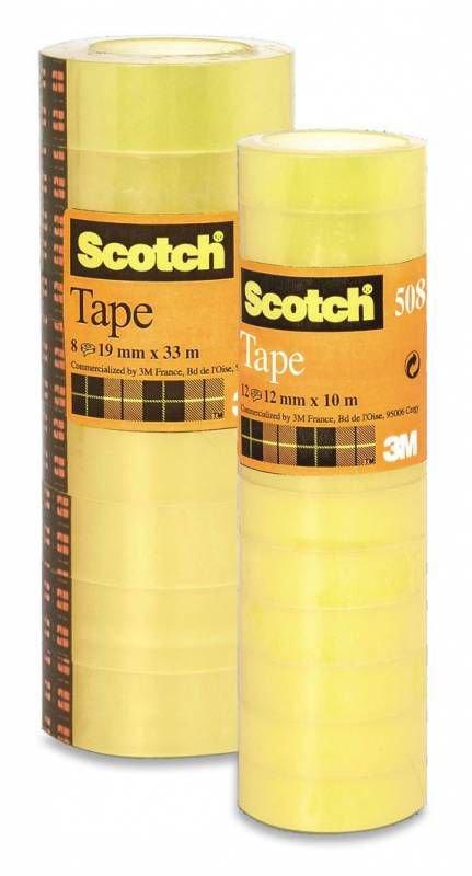 Клейкая лента канцелярская 3M Scotch 508 7000039525 шир.12мм дл.10м (упак.:12шт)