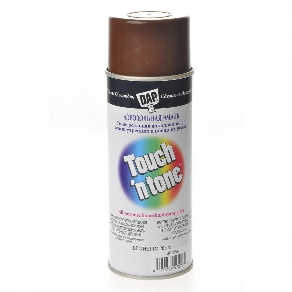 Эмаль аэр. TOUCH N TONE 400мл 53277 коричневый