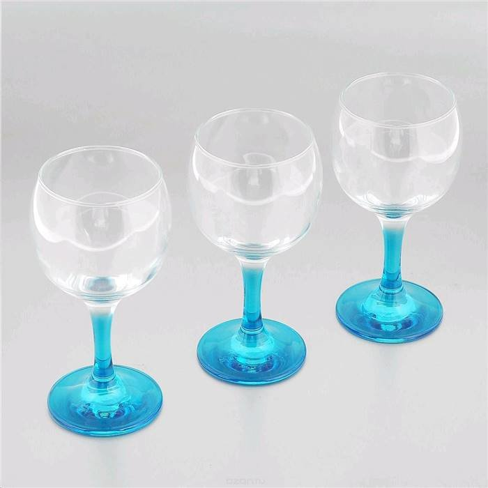 П-Да/Сервир Pasabahce 44412bl/ Набор Фужеров Glass4you 3 Шт. 220 Мл Голубой