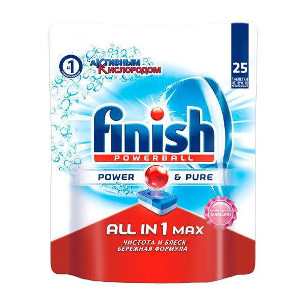 Моющее средство для посудомоечной машины Finish All in 1 Max Power Pure 25табл.