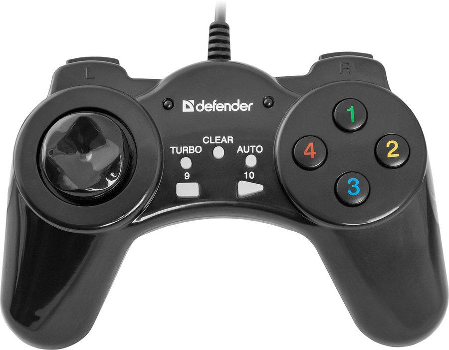 Контроллеры и геймпады Геймпад проводной Defender Vortex