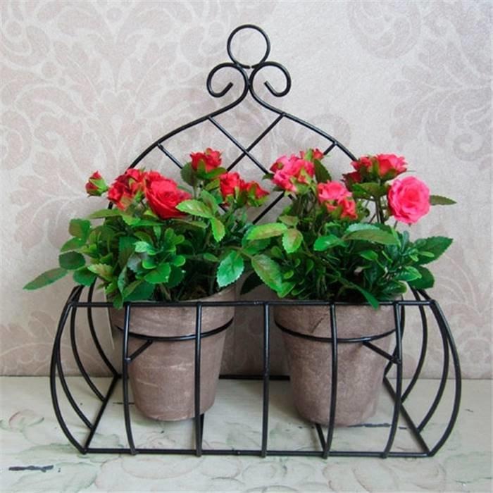 """- Цветочная композиция 691478 Набор искусственных цветов в кашпо """"Роза"""", L24 W12 H25 см полимерные материа"""