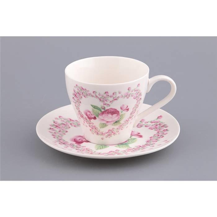 LEFARD Чайный сервиз 770-120 чайный набор на 1 персону 2 пр.200 мл. (кор=24набор.) фарфор