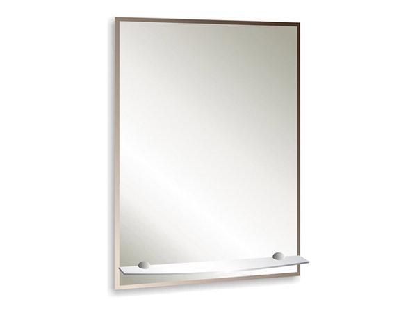 зеркало д/ванной модерн люкс 49,5х68,5 см с полкой фацетом 1