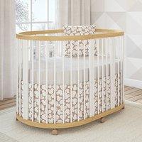Детская овальная кроватка Giovanni Shapito TreeO Natural White