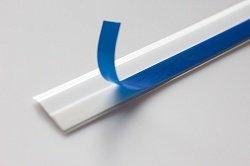 Нащельник пластиковый (ПВХ) самоклеющийся Текопласт белый 30 мм