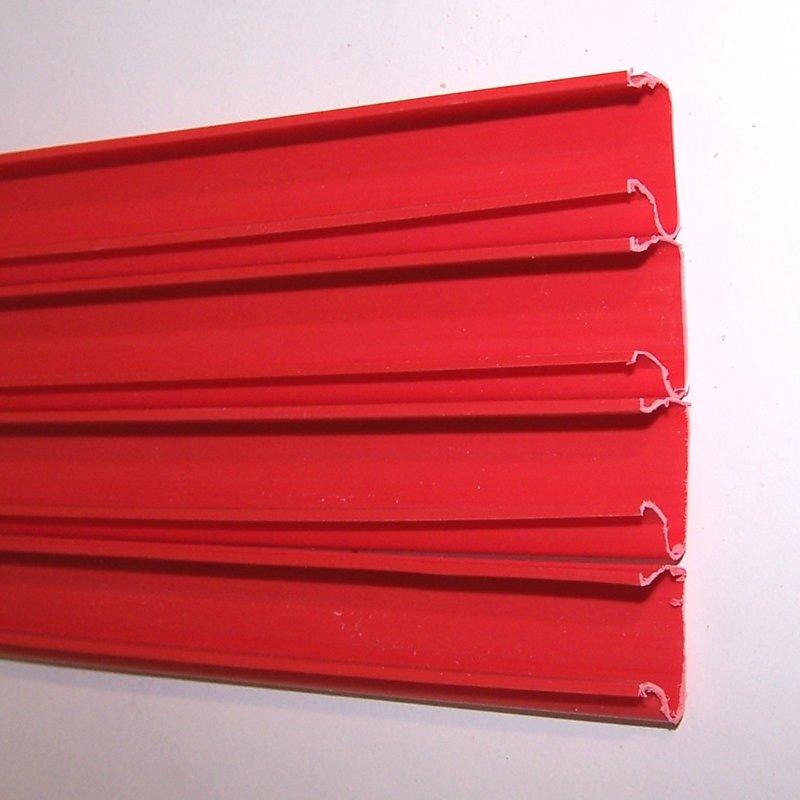 Торговая панель для оборудования магазинов: Комплект вставок, колличество: 23шт, пластик, цвет красный. - АП-302(крас)