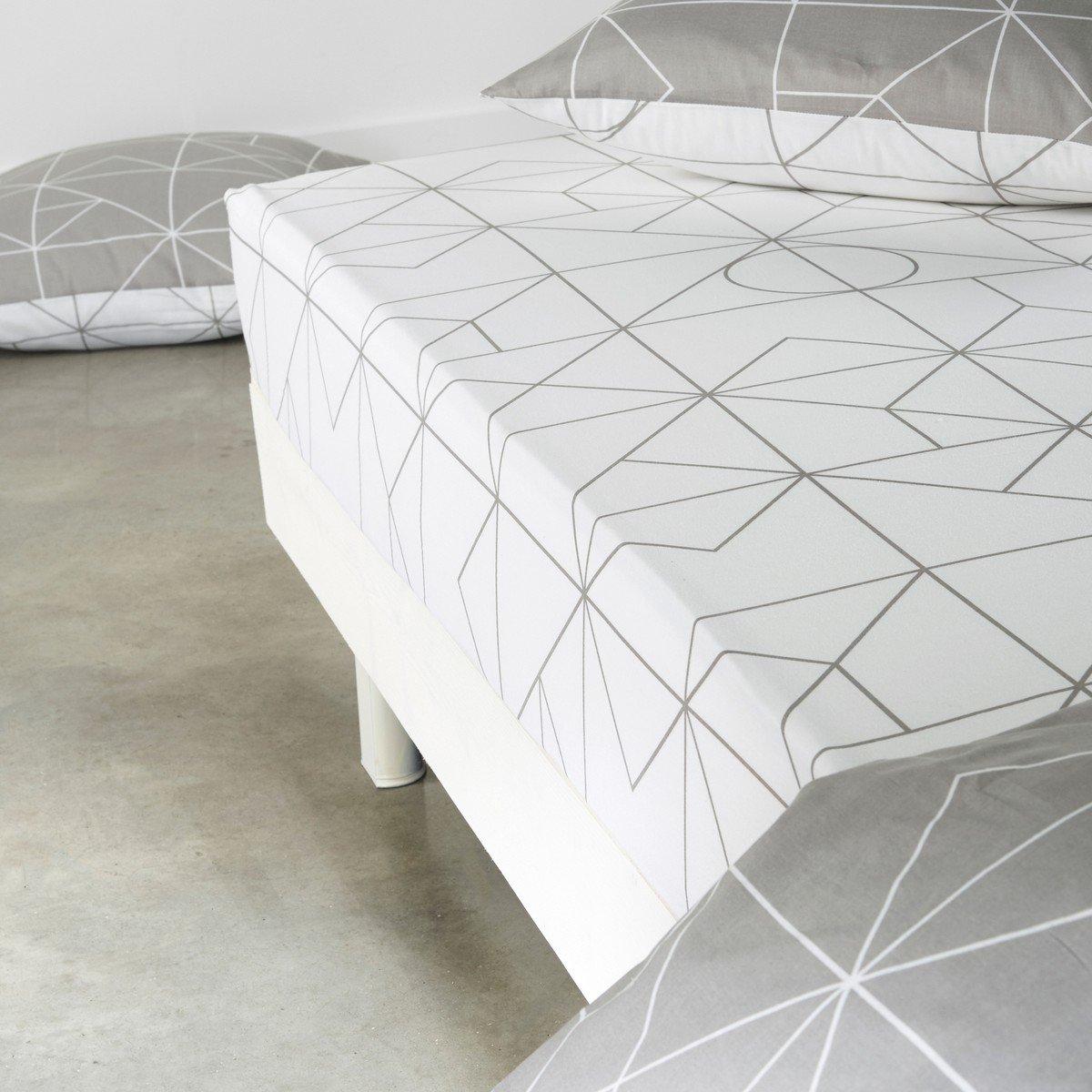 Простыня La Redoute Натяжная из хлопка VIDMEY 160 x 200 см белый