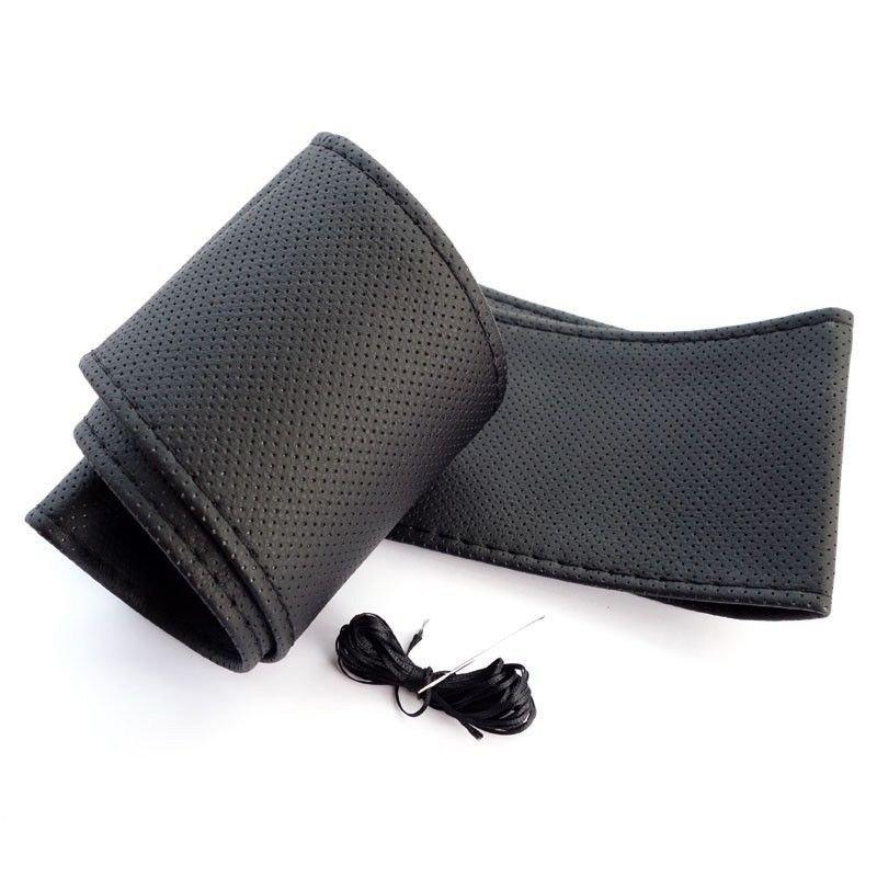 Оплетка на руль со шнуровкой - черная