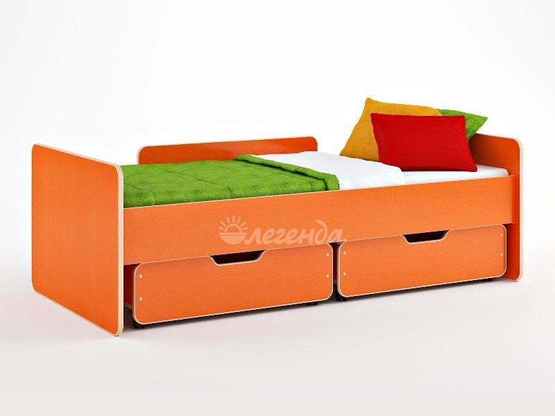 Кровать детская Легенда 14.1 ( с выкатными ящиками ) 80х180 см