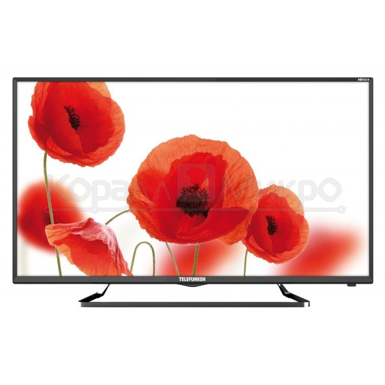 "Телевизор LED Telefunken 39"" TF-LED39S52T2 черный/HD READY/50Hz/ DVB-T/DVB-T2/DVB-C/USB (RUS)"
