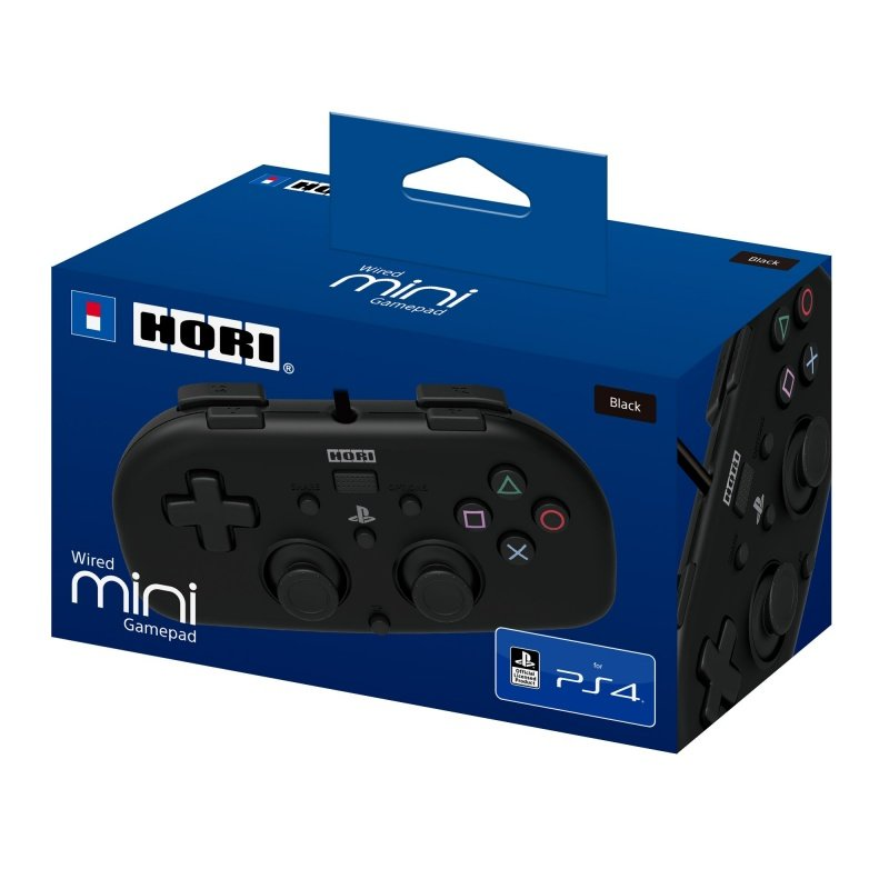 Джойстик HORI Wired MINI Gamepad Black (PS4)