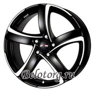 Диск Alutec Shark 7.5x17/5x114.3 D70.1 ET38 Racing Black Front Polished - фото 1
