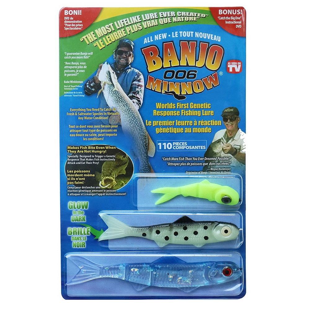 Набор приманок для ловли хищной рыбы - Banjo 006 Minnow