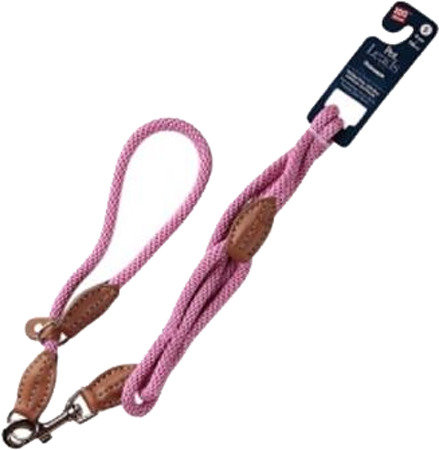 Поводок с петлей для собак GIGWI S, нейлон, розовый (75172)