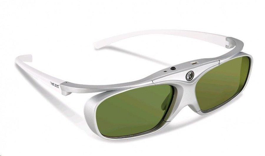 Очки Acer DLP 3D 24p белые/серебристые