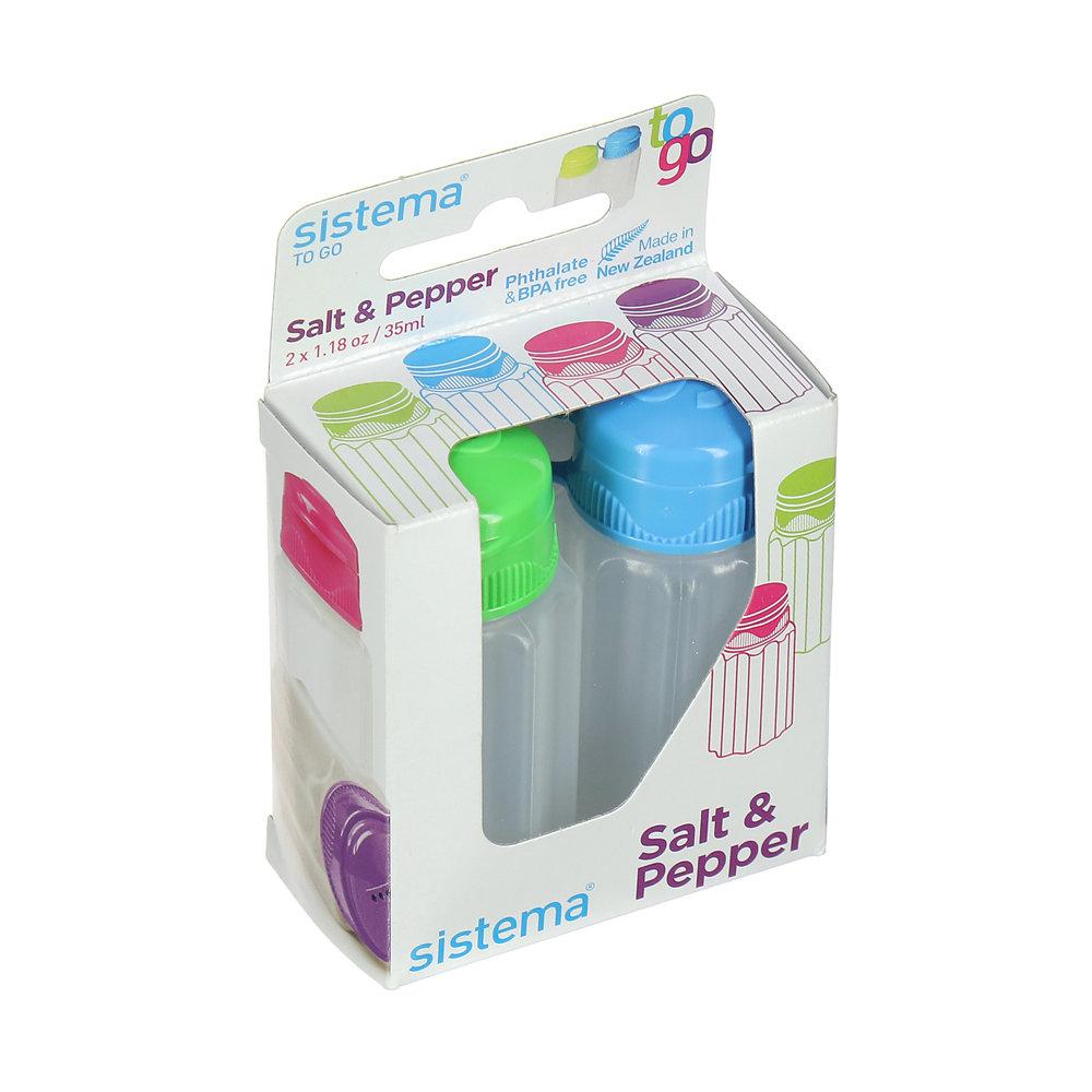 набор для специй Sistema Набор контейнеров Соль-перец To-Go Sistema, 35мл, 2 шт.