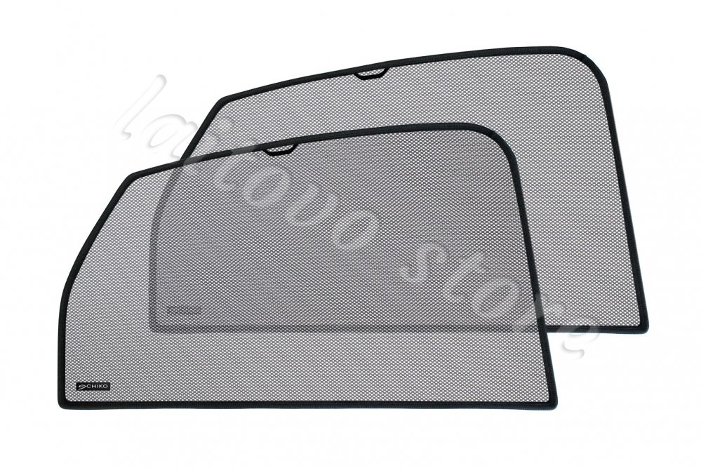 Laitovo Автомобильные шторки Chiko задние на Toyota Land Cruiser Prado 4G Внедорожник 5D (2009 - н.в.) 150 / стекло задней двери открывается