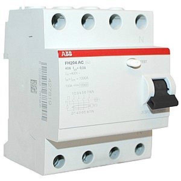 Выключатель дифференциального тока УЗО ABB FH204 АС-25/0,03 4-полюсный (2CSF204004R1250)
