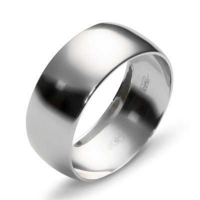 Обручальное кольцо из серебра