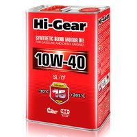 Полусинтетическое моторное масло Hi-Gear 10W40 SL/CF, 4л HG1114