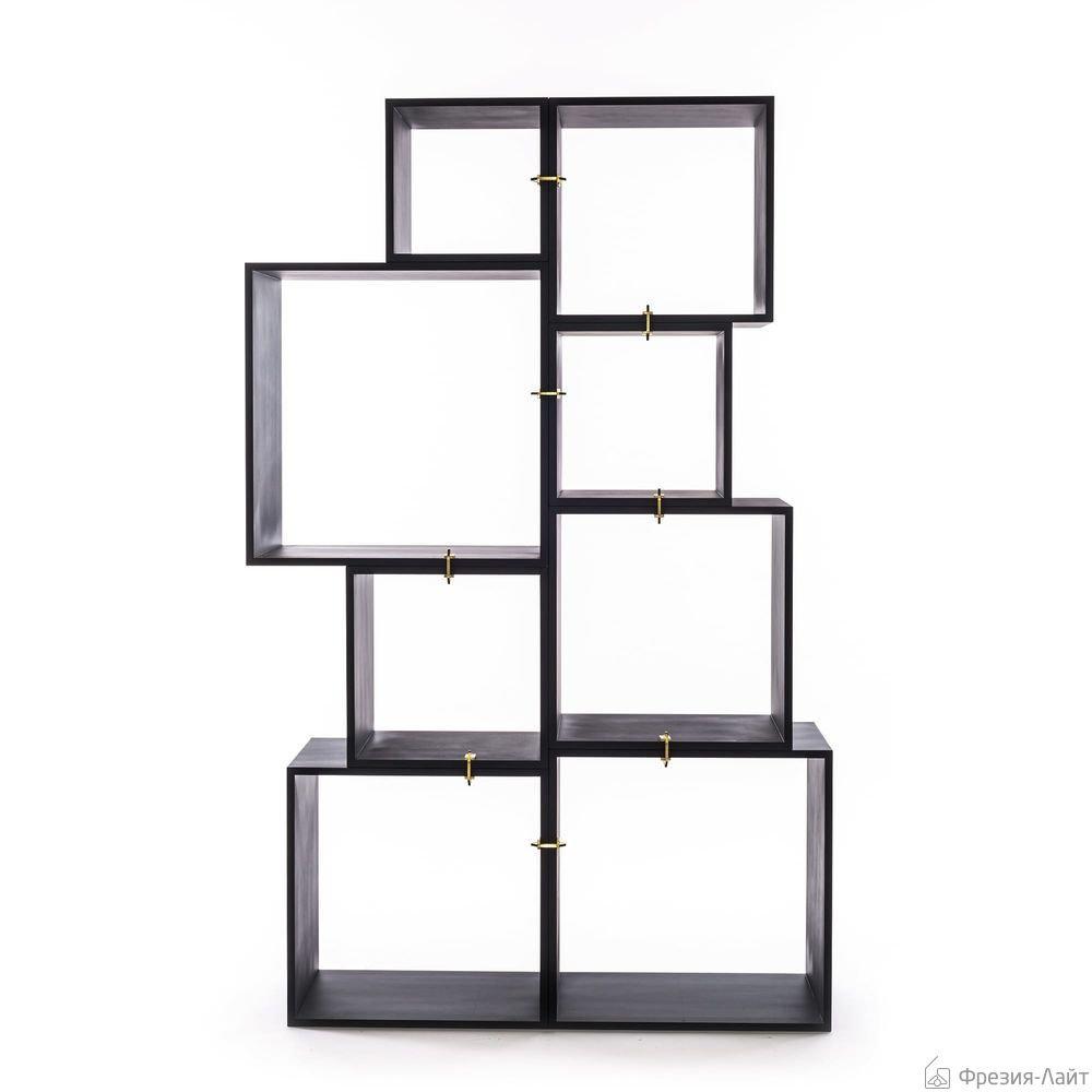 Seletti ASSEMBLAGE.888 14910 модульный книжный шкаф (8секций+8хомутов) книжный шкаф
