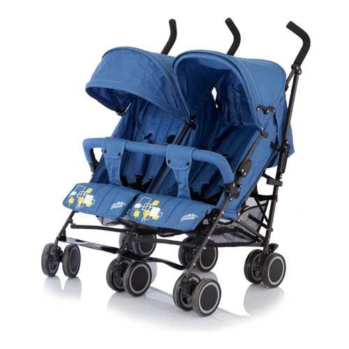 Коляска-трость для двойни Baby Care - Citi Twin, blue