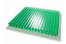 Поликарбонат сотовый Skyglass зеленый 8 мм 2,1х12 м