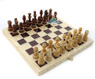 Шахматы обиходные, инкрустированные соломкой