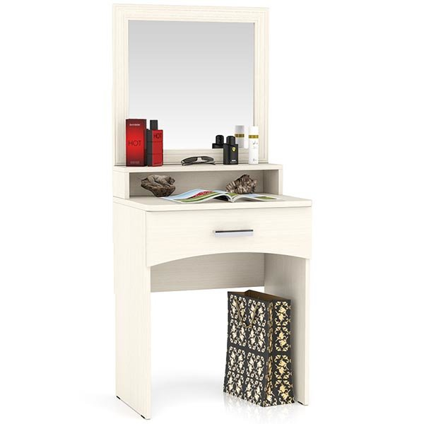 Столик туалетный с зеркалом Белла цвет дуб