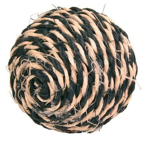 Trixie игрушка для кошек «Мяч веревочный», 6,5 см (1 шт)