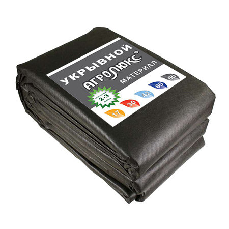 """Черный укрывной материал """"Агролюкс 60"""", 0,8 х 10 м, мульча"""