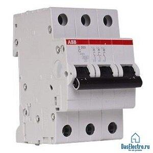 Автоматический выключатель АВВ S-203 3Р-C16