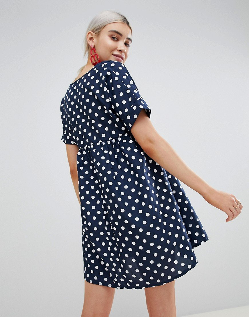 фото стильное горошек платье в