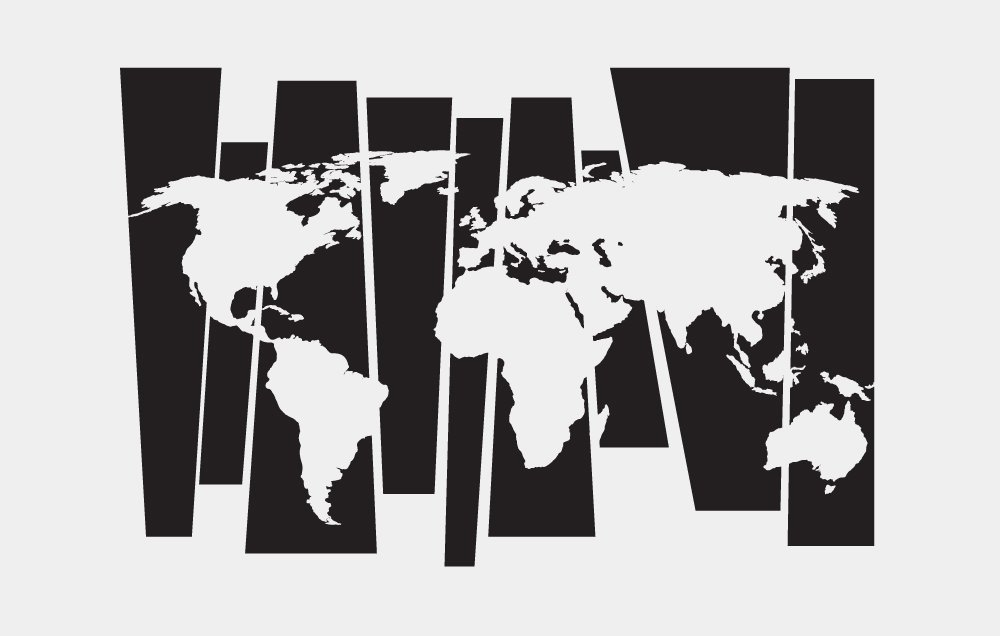 Инриум Интерьерная наклейка на стену Карта мира (линии) 120х200 см