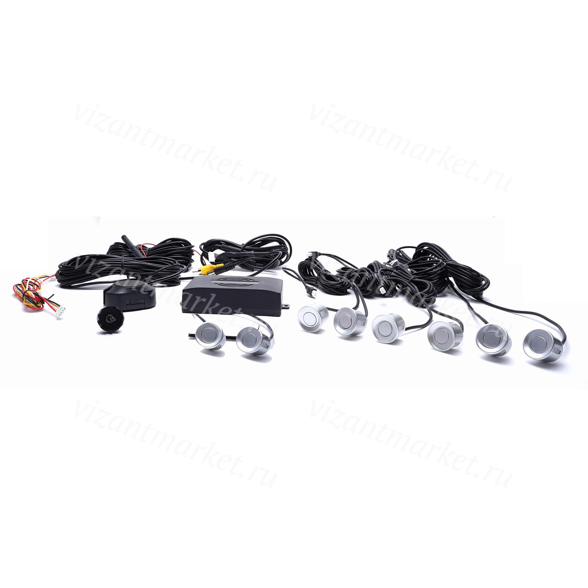 Парктроник Consul 8 серебристых датчика+ дисплей (RMPC-8301)