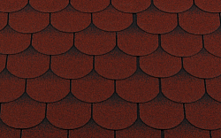 Гибкая битумная черепица RoofShield Готик Family Красный