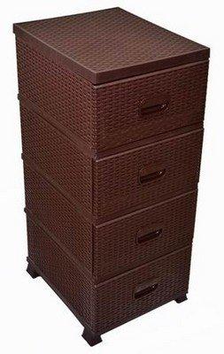 """Комод """"Ротанг"""", 4 ящика, коричневый"""