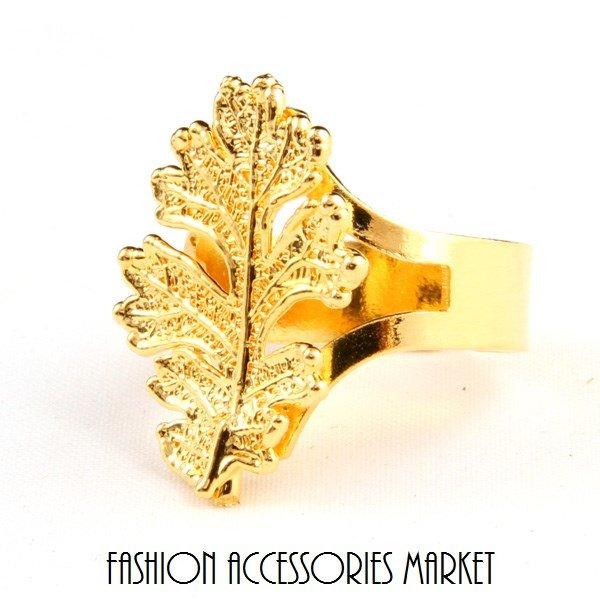 Ester Bijoux Кольцо Лист дуба золото (филигрань)
