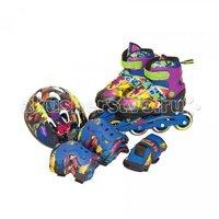 Детские ролики Gulliver Sport Набор роликовые коньки + защита TMNT Мультиколор