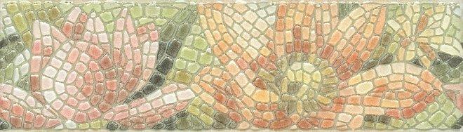 Керамическая плитка Kerama Marazzi Летний сад Лилии лапп. HGD/A147/880L Бордюр 5,7x20