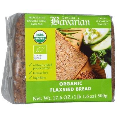 Органический хлеб с семенами льна, 17,6 унций (500 г)