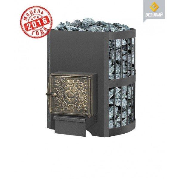 Дровяная печь для бани Везувий Оптимум Стандарт 14 (ДТ-3) без выносного тоннеля 2016