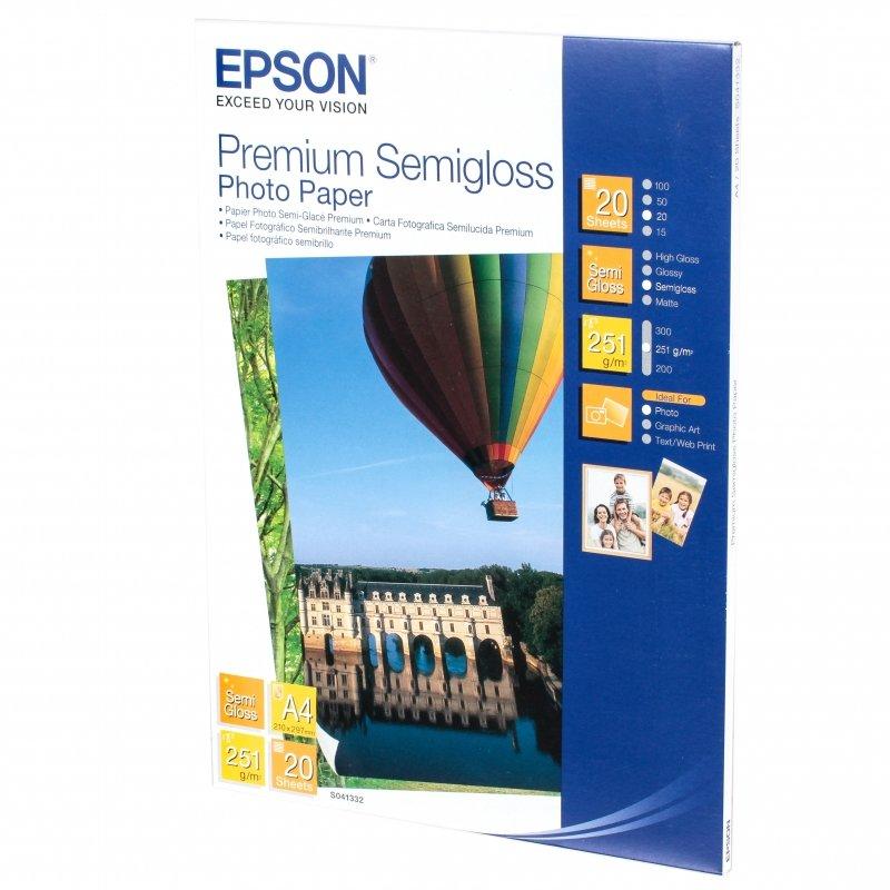 Бумага EPSON Premium Semigloss Photo Paper A4 (20 листов)