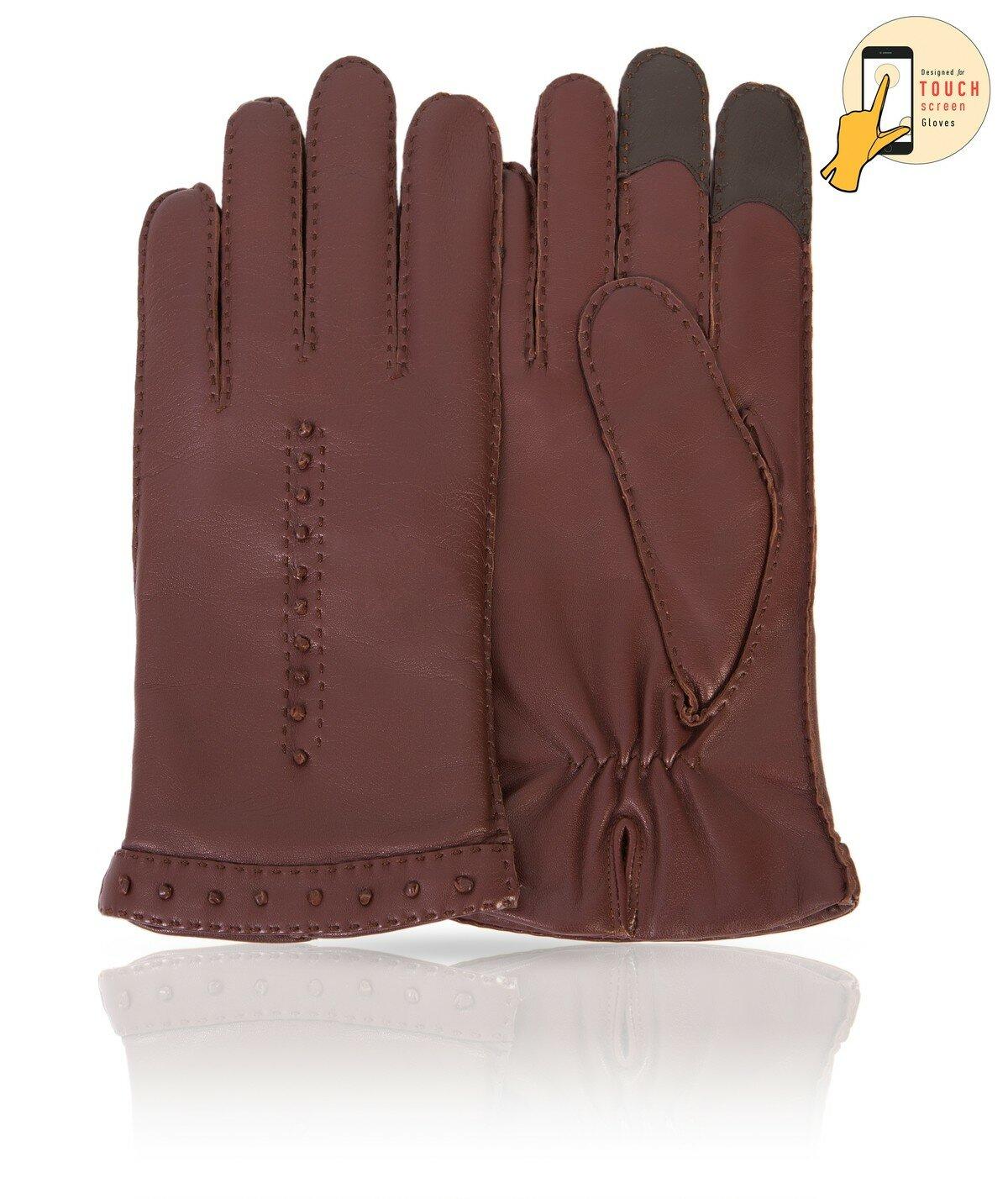 Перчатки сенсорные 'Deer pattern' / Light pink