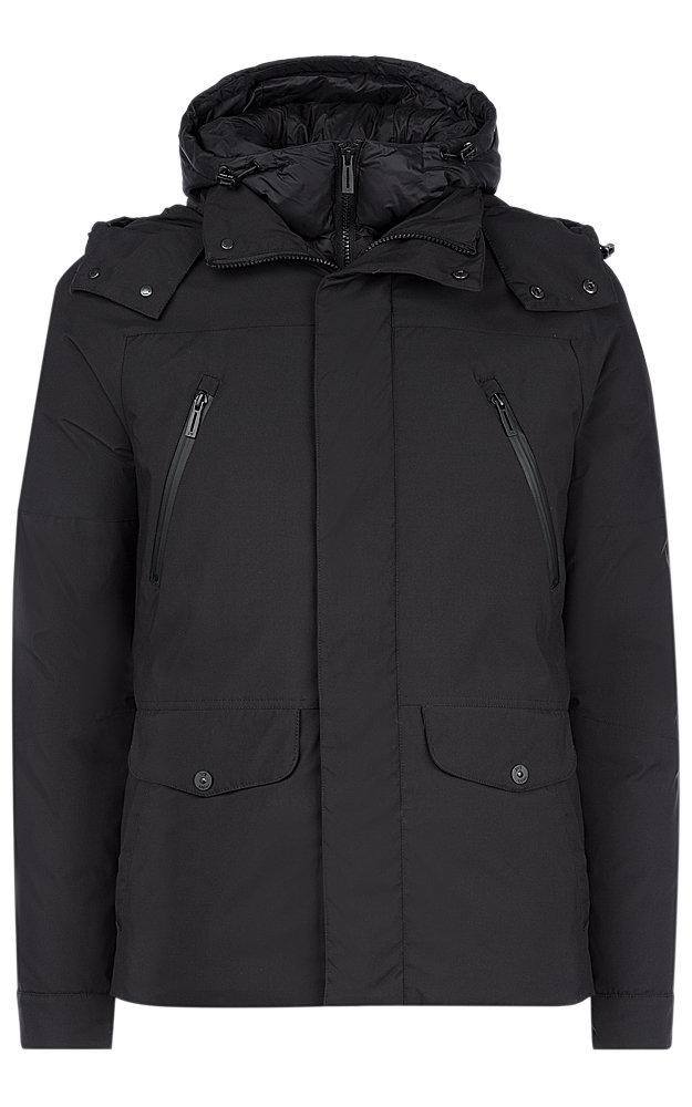 Куртка на натуральном пуху с капюшоном