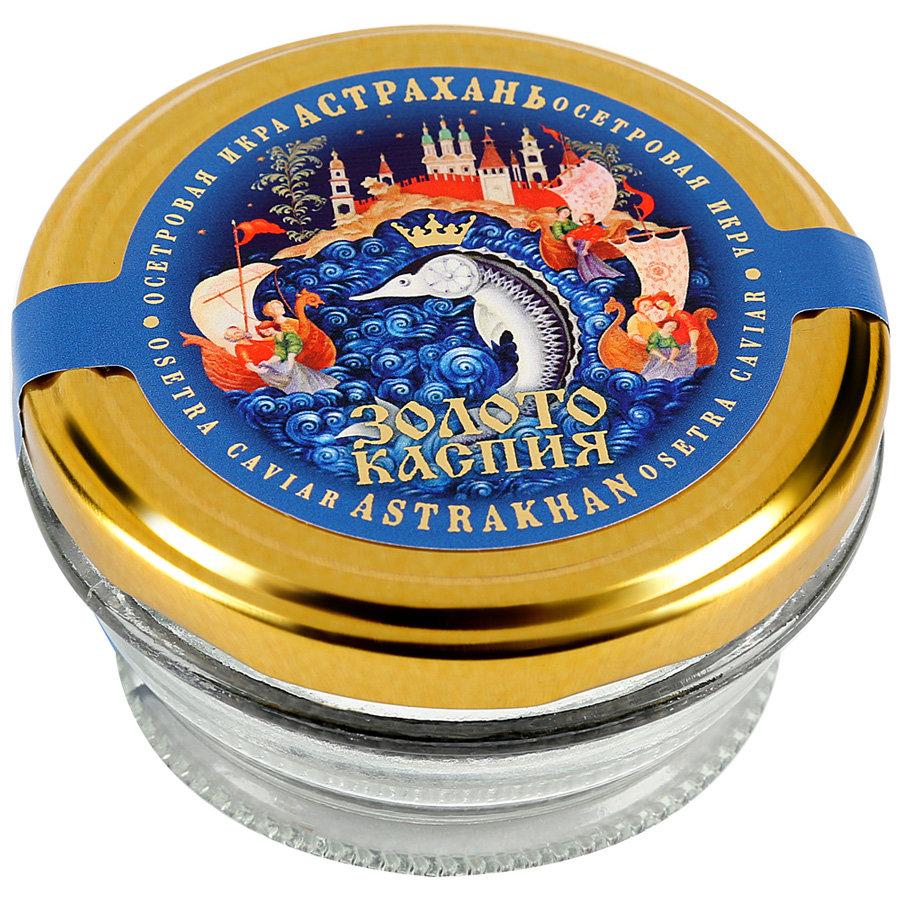 Икра осетровая Золото Каспия Серия Астрахань Классическая 50г