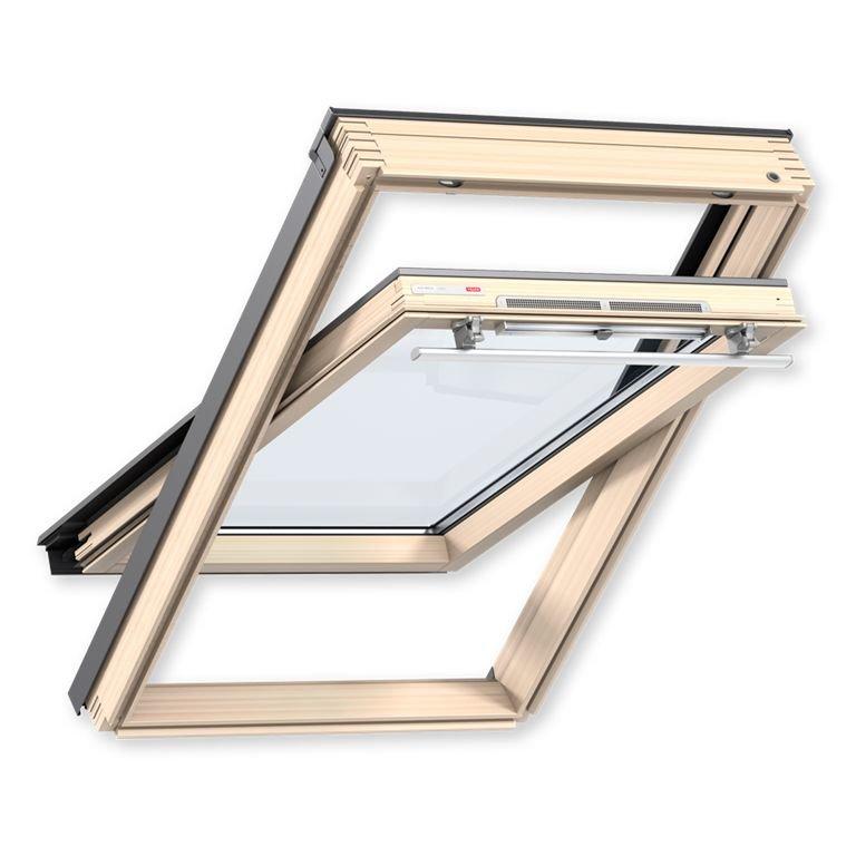 Velux Мансардное окно деревянное Optima Стандарт GZR 3050, ручка сверху